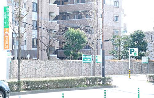 かきうち小児科の駐車場
